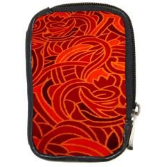 Orange Abstract Background Compact Camera Cases by Simbadda