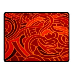 Orange Abstract Background Fleece Blanket (small) by Simbadda