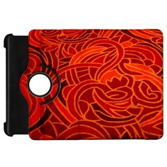 Orange Abstract Background Kindle Fire Hd 7  by Simbadda