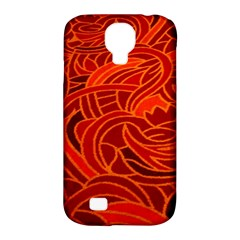 Orange Abstract Background Samsung Galaxy S4 Classic Hardshell Case (pc+silicone)