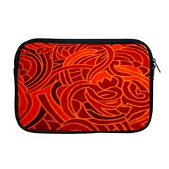 Orange Abstract Background Apple Macbook Pro 17  Zipper Case by Simbadda