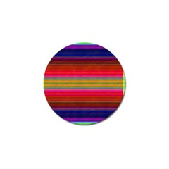 Fiesta Stripe Bright Colorful Neon Stripes Cinco De Mayo Background Golf Ball Marker (10 Pack) by Simbadda