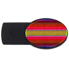 Fiesta Stripe Bright Colorful Neon Stripes Cinco De Mayo Background Usb Flash Drive Oval (4 Gb) by Simbadda