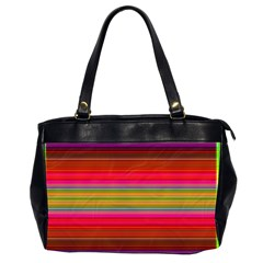 Fiesta Stripe Bright Colorful Neon Stripes Cinco De Mayo Background Office Handbags (2 Sides)  by Simbadda