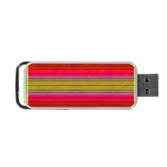 Fiesta Stripe Bright Colorful Neon Stripes Cinco De Mayo Background Portable Usb Flash (one Side) by Simbadda