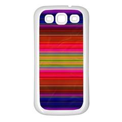 Fiesta Stripe Bright Colorful Neon Stripes Cinco De Mayo Background Samsung Galaxy S3 Back Case (white) by Simbadda