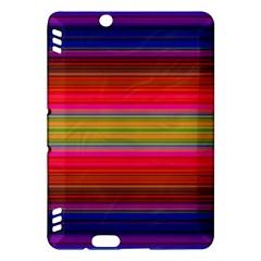 Fiesta Stripe Bright Colorful Neon Stripes Cinco De Mayo Background Kindle Fire Hdx Hardshell Case by Simbadda