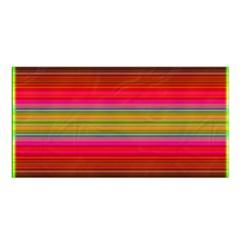 Fiesta Stripe Bright Colorful Neon Stripes Cinco De Mayo Background Satin Shawl by Simbadda