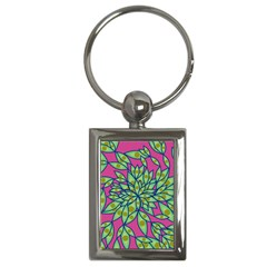 Big Growth Abstract Floral Texture Key Chains (rectangle)  by Simbadda