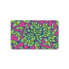 Big Growth Abstract Floral Texture Magnet (name Card) by Simbadda
