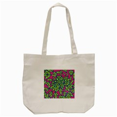 Big Growth Abstract Floral Texture Tote Bag (cream) by Simbadda