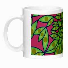 Big Growth Abstract Floral Texture Night Luminous Mugs by Simbadda