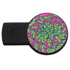 Big Growth Abstract Floral Texture Usb Flash Drive Round (4 Gb) by Simbadda