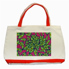 Big Growth Abstract Floral Texture Classic Tote Bag (red) by Simbadda