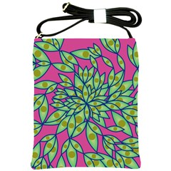 Big Growth Abstract Floral Texture Shoulder Sling Bags by Simbadda
