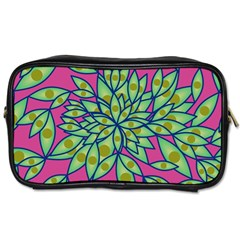 Big Growth Abstract Floral Texture Toiletries Bags by Simbadda