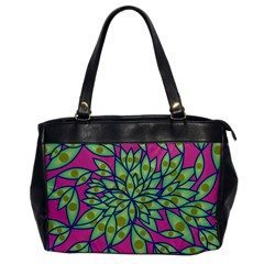 Big Growth Abstract Floral Texture Office Handbags by Simbadda