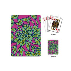 Big Growth Abstract Floral Texture Playing Cards (mini)  by Simbadda