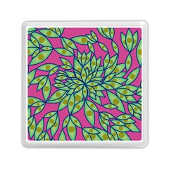 Big Growth Abstract Floral Texture Memory Card Reader (square)  by Simbadda