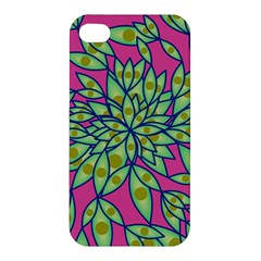 Big Growth Abstract Floral Texture Apple Iphone 4/4s Hardshell Case by Simbadda