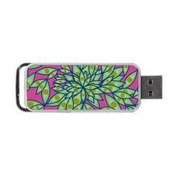 Big Growth Abstract Floral Texture Portable Usb Flash (two Sides) by Simbadda