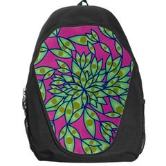 Big Growth Abstract Floral Texture Backpack Bag by Simbadda