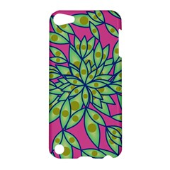 Big Growth Abstract Floral Texture Apple Ipod Touch 5 Hardshell Case by Simbadda