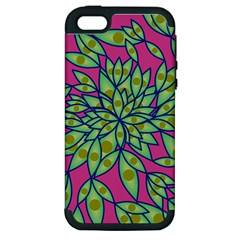 Big Growth Abstract Floral Texture Apple Iphone 5 Hardshell Case (pc+silicone) by Simbadda