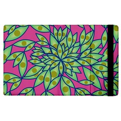 Big Growth Abstract Floral Texture Apple Ipad 2 Flip Case by Simbadda