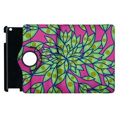 Big Growth Abstract Floral Texture Apple Ipad 3/4 Flip 360 Case by Simbadda