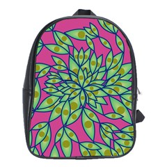 Big Growth Abstract Floral Texture School Bags (xl)  by Simbadda