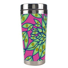 Big Growth Abstract Floral Texture Stainless Steel Travel Tumblers by Simbadda