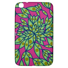 Big Growth Abstract Floral Texture Samsung Galaxy Tab 3 (8 ) T3100 Hardshell Case  by Simbadda