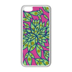 Big Growth Abstract Floral Texture Apple Iphone 5c Seamless Case (white) by Simbadda