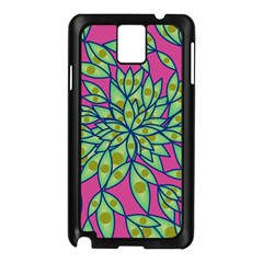 Big Growth Abstract Floral Texture Samsung Galaxy Note 3 N9005 Case (black) by Simbadda