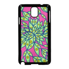 Big Growth Abstract Floral Texture Samsung Galaxy Note 3 Neo Hardshell Case (black) by Simbadda