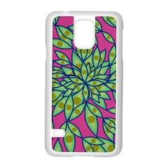 Big Growth Abstract Floral Texture Samsung Galaxy S5 Case (white) by Simbadda