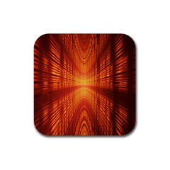 Abstract Wallpaper With Glowing Light Rubber Coaster (square)  by Simbadda