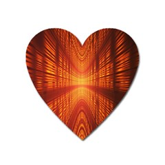 Abstract Wallpaper With Glowing Light Heart Magnet by Simbadda