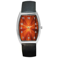 Abstract Wallpaper With Glowing Light Barrel Style Metal Watch by Simbadda