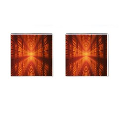 Abstract Wallpaper With Glowing Light Cufflinks (square) by Simbadda