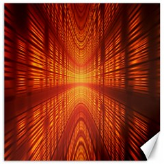 Abstract Wallpaper With Glowing Light Canvas 16  X 16   by Simbadda
