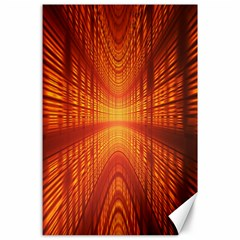 Abstract Wallpaper With Glowing Light Canvas 24  X 36  by Simbadda