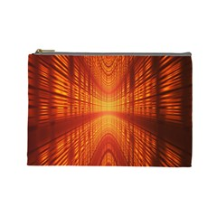 Abstract Wallpaper With Glowing Light Cosmetic Bag (large)  by Simbadda
