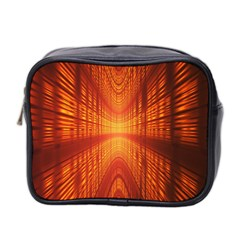 Abstract Wallpaper With Glowing Light Mini Toiletries Bag 2 Side by Simbadda