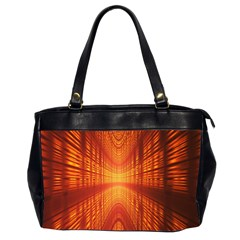 Abstract Wallpaper With Glowing Light Office Handbags (2 Sides)  by Simbadda