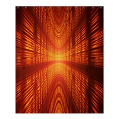 Abstract Wallpaper With Glowing Light Shower Curtain 60  X 72  (medium)  by Simbadda