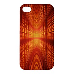 Abstract Wallpaper With Glowing Light Apple Iphone 4/4s Premium Hardshell Case by Simbadda