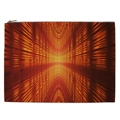 Abstract Wallpaper With Glowing Light Cosmetic Bag (xxl)  by Simbadda