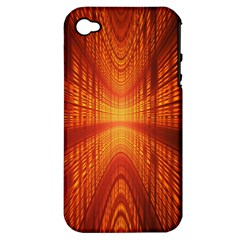 Abstract Wallpaper With Glowing Light Apple Iphone 4/4s Hardshell Case (pc+silicone) by Simbadda